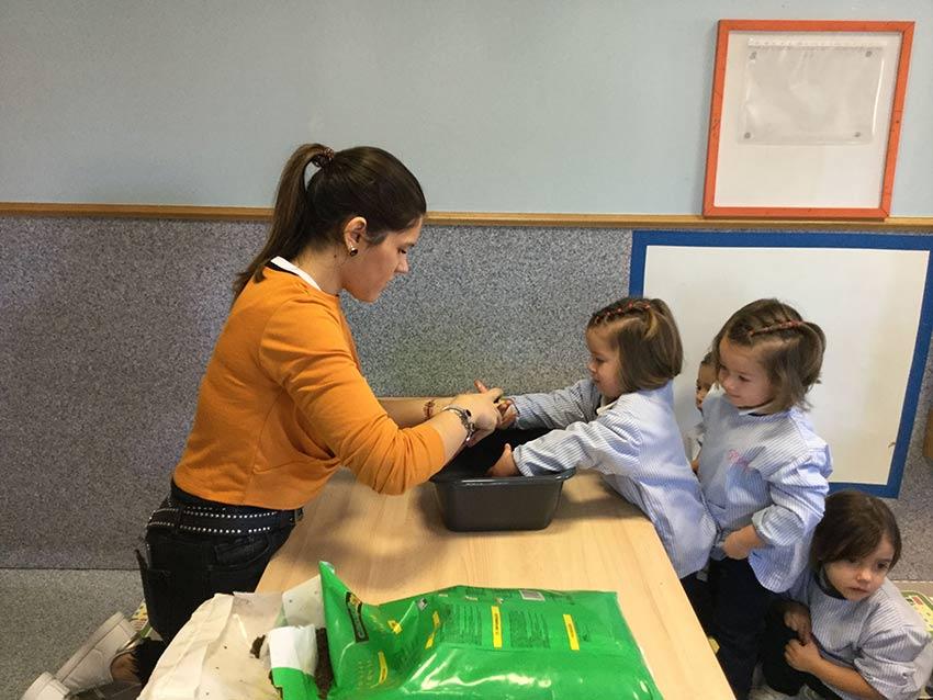 Prácticas con los alumnos de dos años