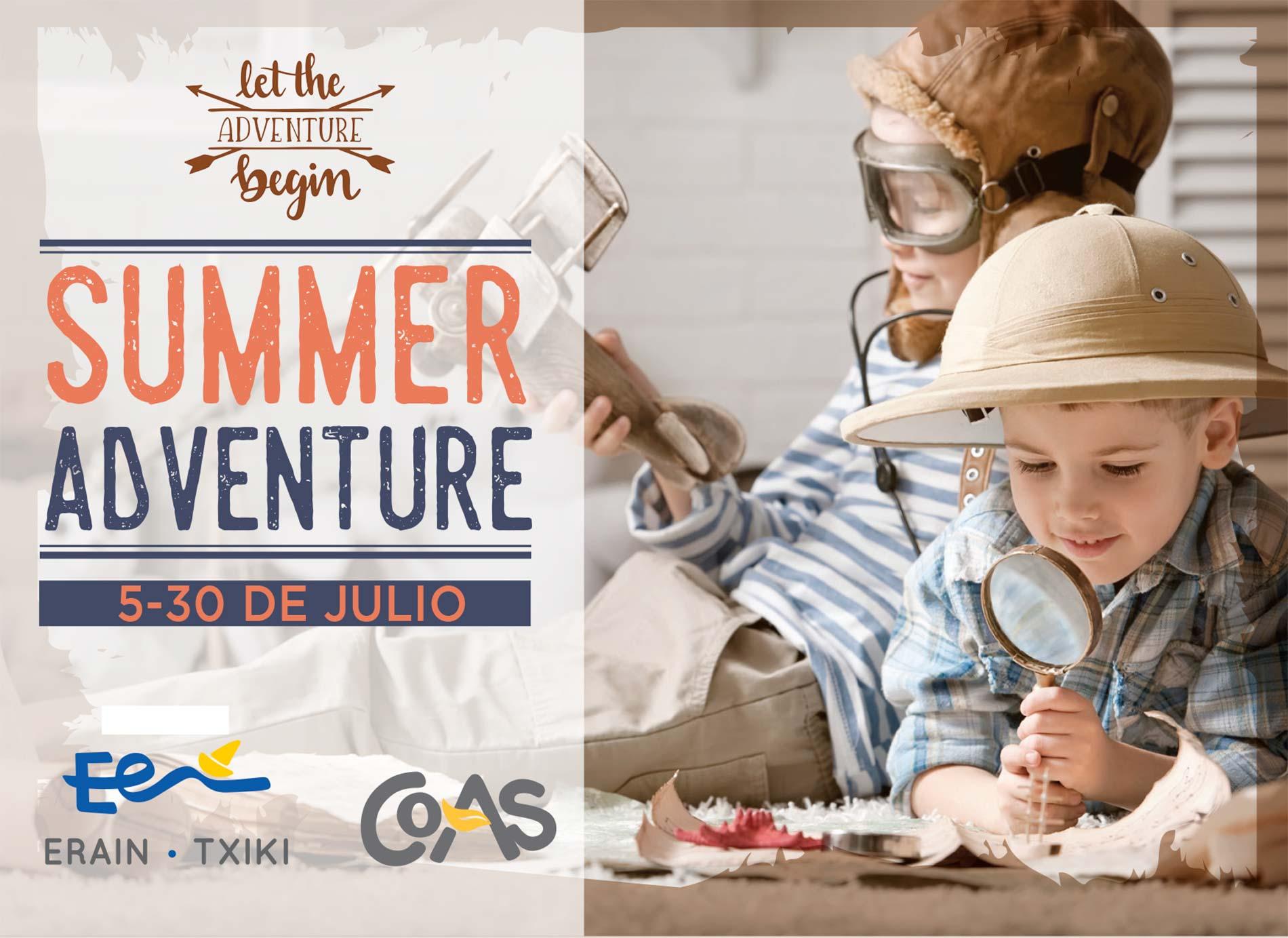 "Curso de verano ""Summer Adventure"" en Erain Txiki."